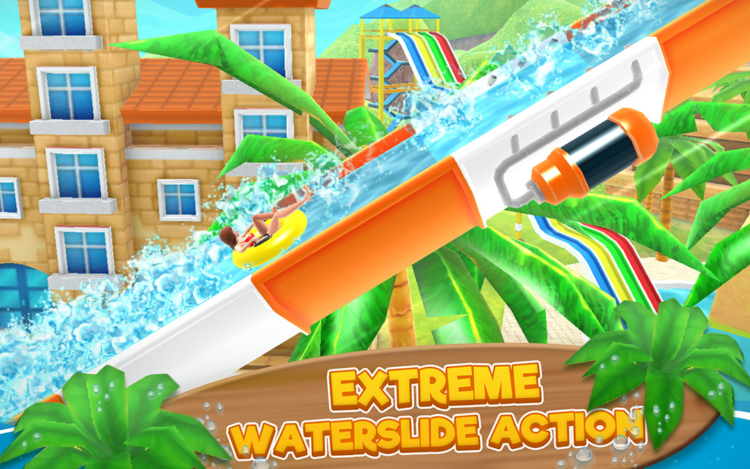 extreme waterslide action