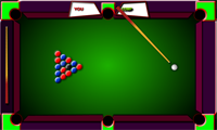 Billard rouge contre bleu