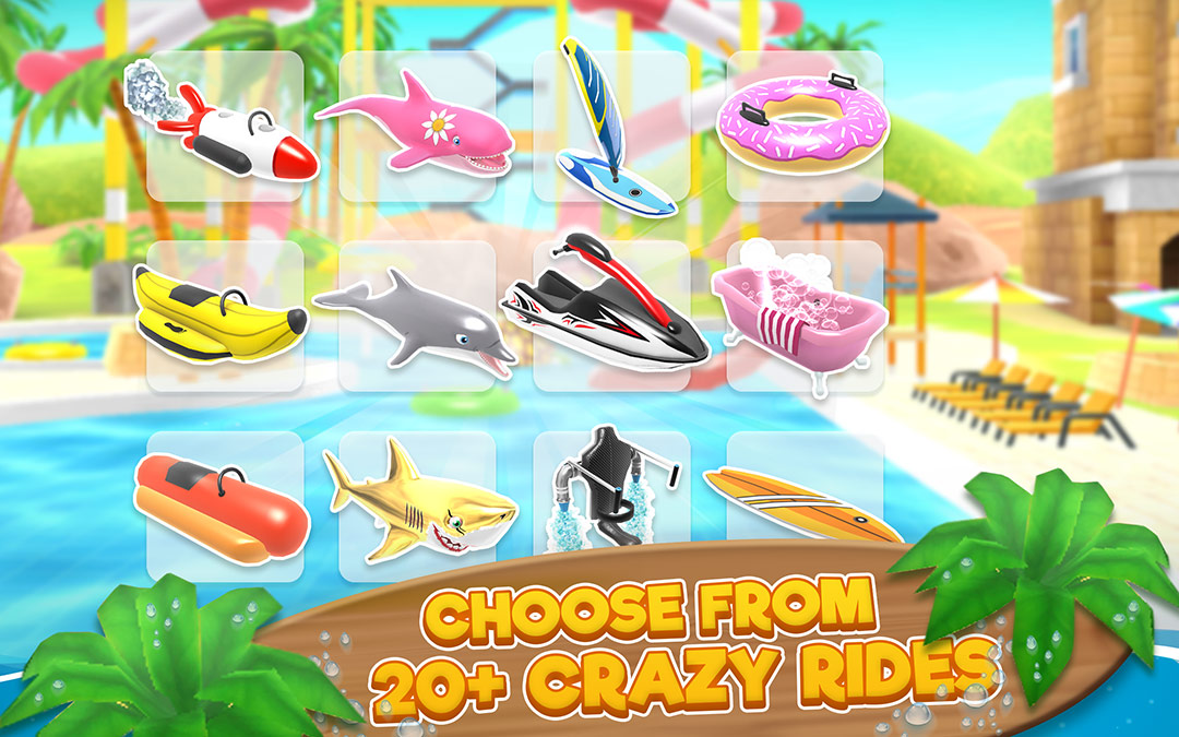 choose from 20+ crazy rides