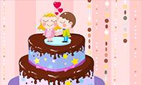Decoração do Bolo de Casamento