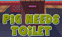 Varkentje zoekt het toilet
