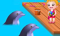 Baby Hazel: parque de delfines