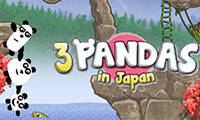 3 panda's in Japan