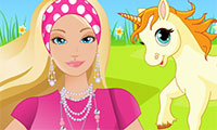 Cuidando do Unicórnio da Barbie