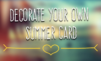 Decorate Your Own Summer Card