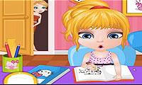 Baby Homework Slacking