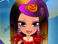 Viste a la bruja de Halloween