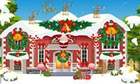 Weihnachtshaus schmücken