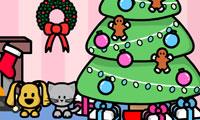 Crea una scena: stanza di Natale