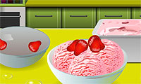 École de cuisine de Sara: Glace fraise
