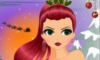 Coiffure et maquillage de Noël