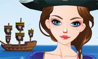 Hübsche Piratin perfekt anziehen