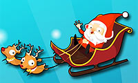 Verrücktes Weihnachtsmannrennen