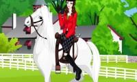 La princesse Irène fait de l'équitation