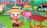 Bébé Hazel à la ferme