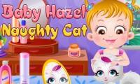 Bébé Hazel : méchant chat