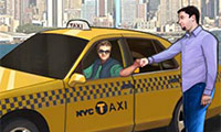 Course en taxi à New York