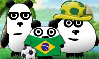 Trois pandas au Brésil