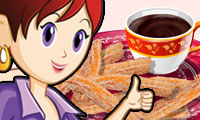 Churros de Chocolate: Culinária da Sara
