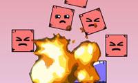 Взрыв красных объектов