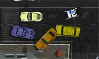 Nieuwe politieauto parkeren