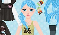 Blue-Haired Rocker Dress Up