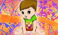 Одевалка: цветочный малыш