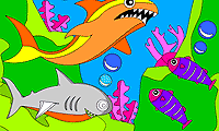 Rosy Coloring: Sharks