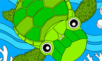 Rosy Coloring: Turtle and Friends