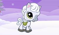 Пони и снегопад