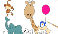 Cute Zoo Coloring