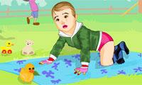 Viste a los bebés de picnic