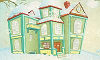Décoration de maison d'hiver