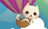 Livraison par ballon-chat
