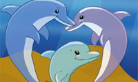 Haustierheim-Designer: Delfinfamilie