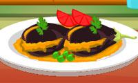 Emmas Rezepte:Indische Aubergine gefüllt