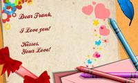 Décoration de lettre d'amour