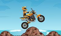 Kul på motorcykel