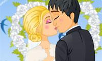 Zoenen op de bruiloft
