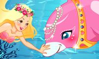 Delfin und Meerjungfrau