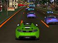 Course de voitures en ville 3D