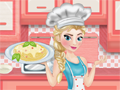 Elsa cooking spagheti