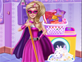 Super Barbie membersihkan rumah
