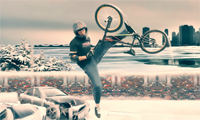 Winter BMX Jam: Stunt Bike Game