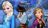 Elsa y Anna arman a Olaf