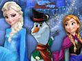 Elsa e Anna costruiscono Olaf