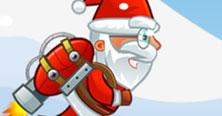 Kerstman met jetpack