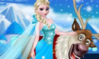 Rudolph ed Elsa nella foresta di Frozen