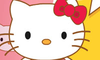 Lukisan Wajah Hello Kitty
