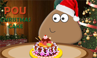 Pou fait un gâteau de Noël